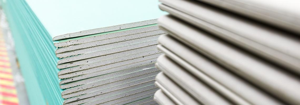 Gipskartonplatten für den Innenausbau